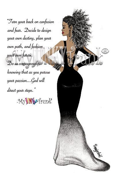 NEW COURAGEOUS African American Art Natural Hair by MyJunkyTrunk