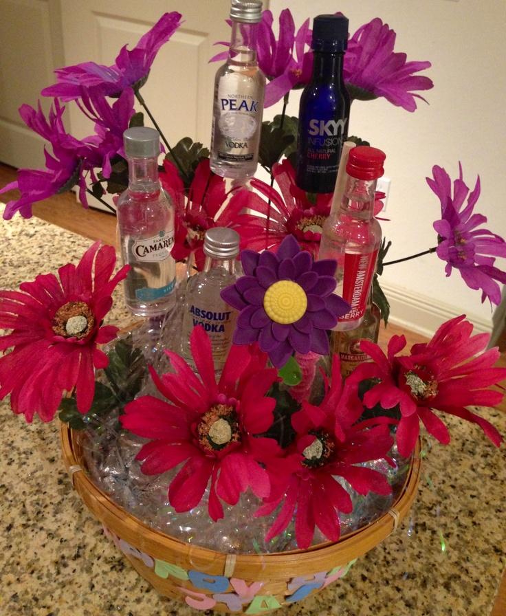 25 Best Ideas About Mini Alcohol Bouquet On Pinterest
