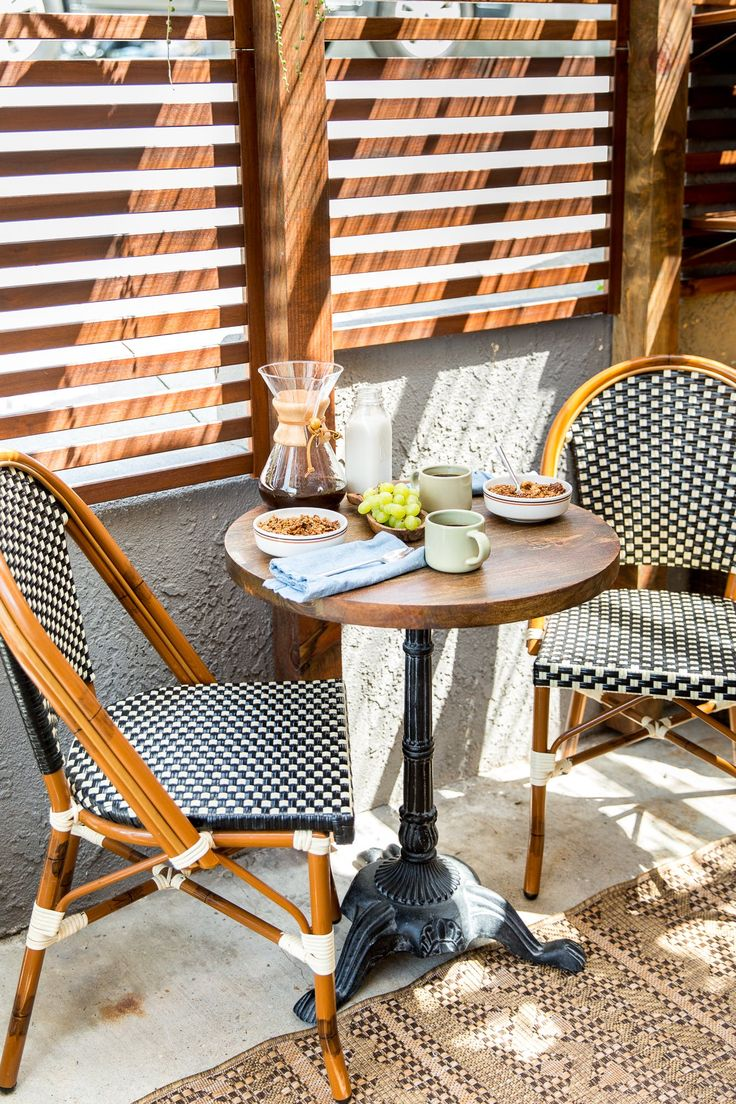 Deck amp patio furniture are often neglected when hiring a pressure - Ali And Evan Sourced Their Classic Bistro Table From World Market The Chairs Are From