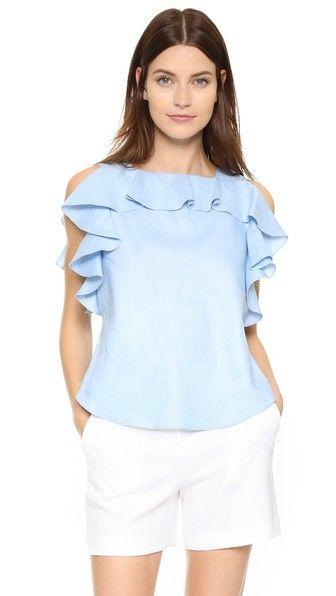 Blusa azul urgente