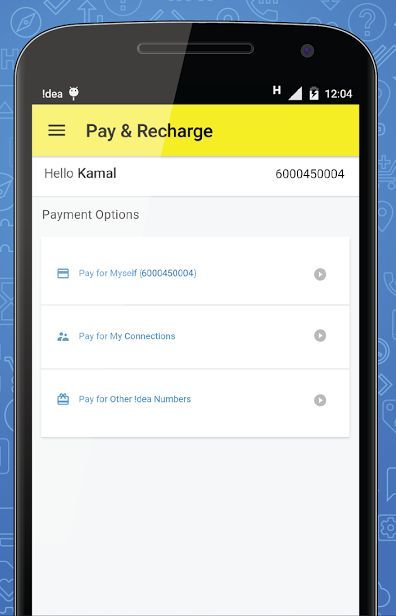 Idea bill payment online for prepaid Idea and postpaid recharge. Prepaid & Postpaid, 3G Mobile Phone and Data Card online payment of Idea cellular