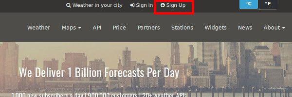 Como incluir el Pronóstico del Tiempo en WordPress