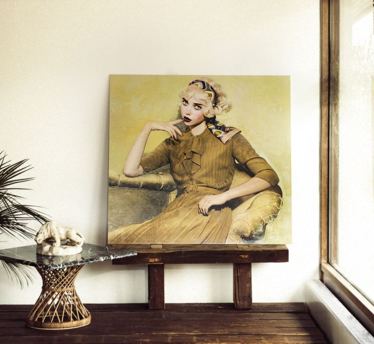 Yellow Lady. By contemporary artist André Lundquist and photographer Signe Vilstrup. Available on the website.