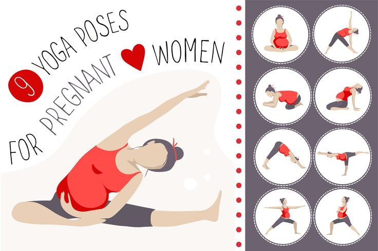 9 yoga poses for pregnant women - Objects - 1