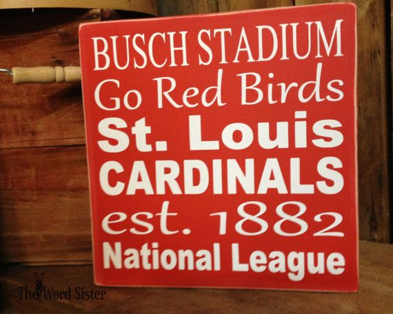 St Louis Cardinals Baseball Wooden Typography by TheWordSister, $25.00