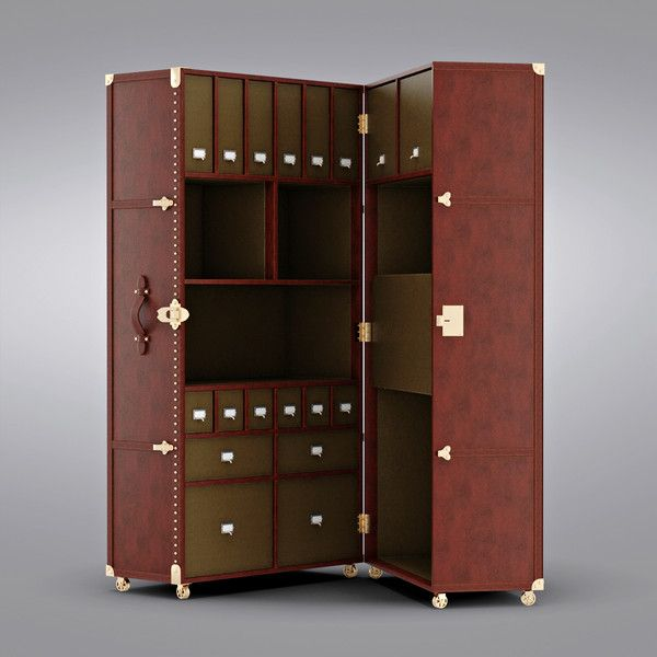 Upright Steamer Trunk  Because of Reasons  Steamer trunk