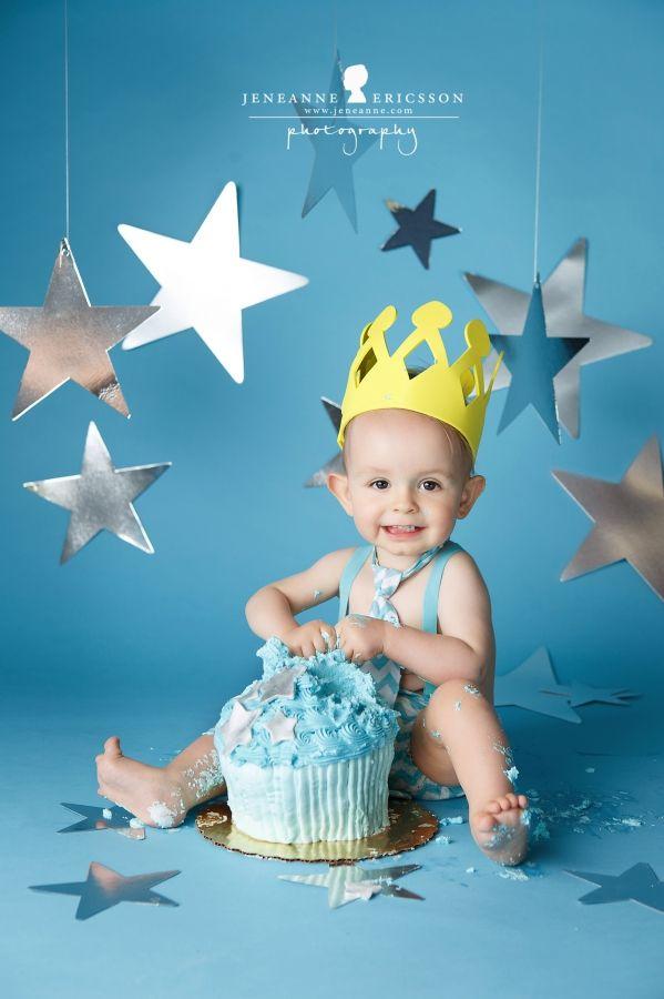 Mr. T is one – Santa Rosa Baby Photographer » Jeneanne Ericsson Photography star themed cake smash