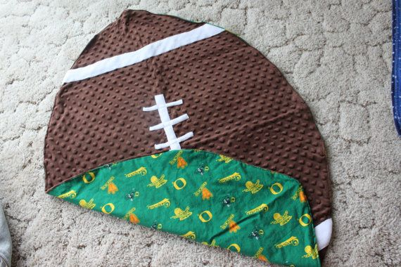 Oregon Ducks Football Blanket by TamarackCreations on Etsy, $29.00