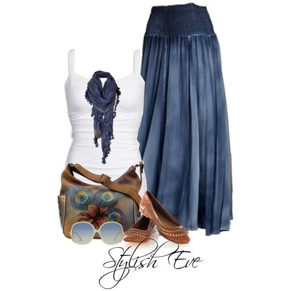 """I LOVE THIS!"" Wish I knew where to get it. Stylish Eve Outfits 2013: Summer Maxi Skirts"
