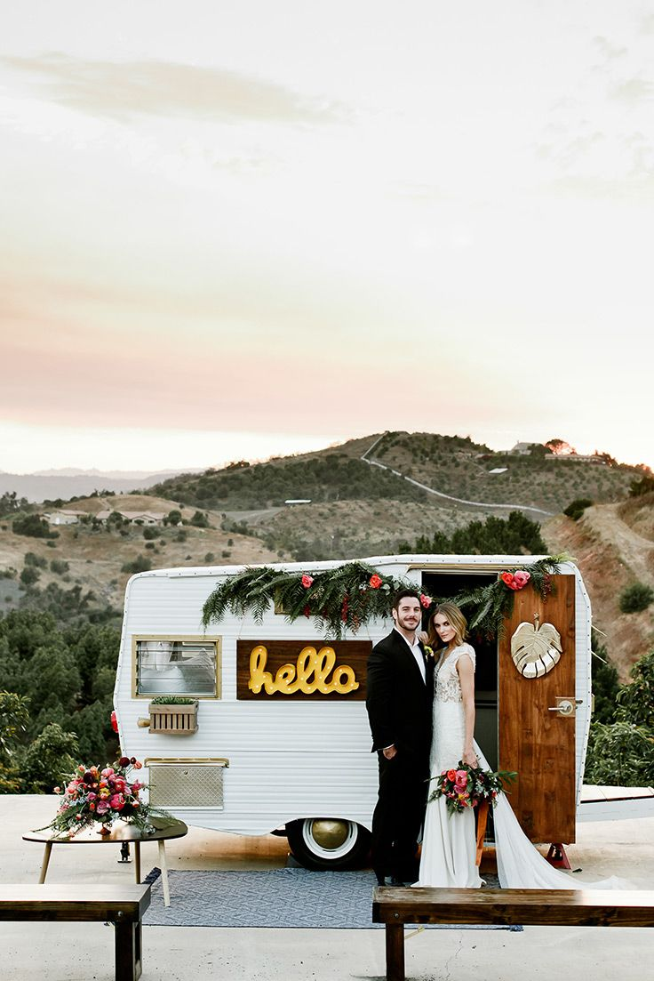 beautiful wedding places in northern california%0A Retro Tropics Inspired Elopement with a Marvelous View