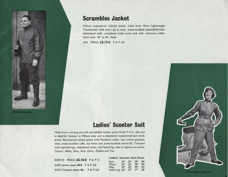 Ladies Scooter Suit vintage catalogue - Tomboy Style