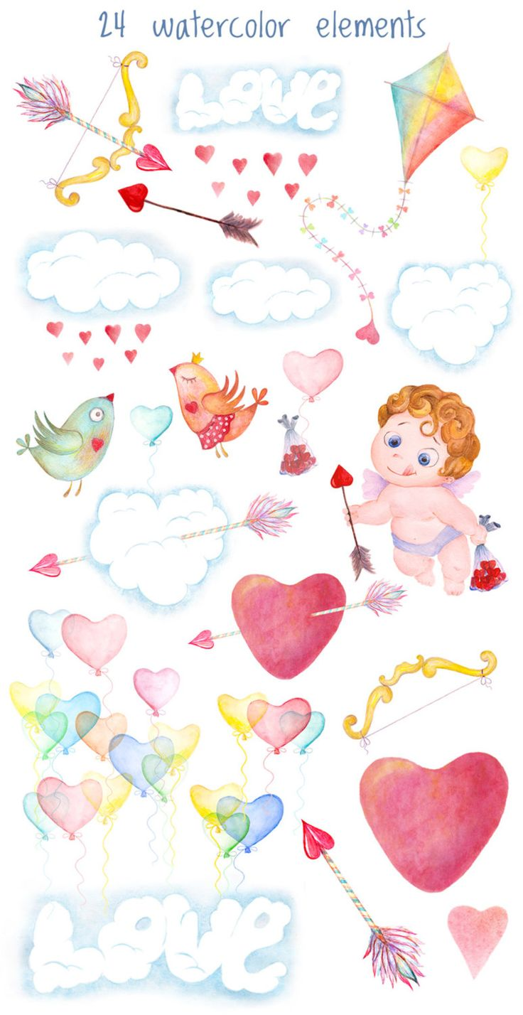 91 best clipart and digital paper images on pinterest digital love watercolor clipart cupid arrow and love birds clipart love is in the air romantic clipart rusteam love clip art voltagebd Images