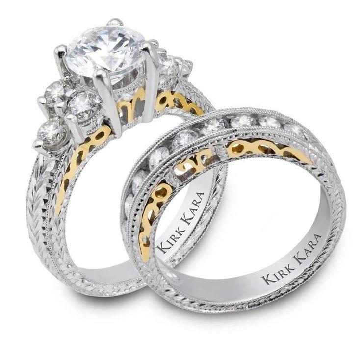 Simple photos mixed silver and gold engagment wedding rings Gold and Silver Engagement Rings from Kansas