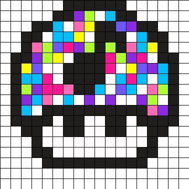 Disco Mushroom Perler Bead Pattern
