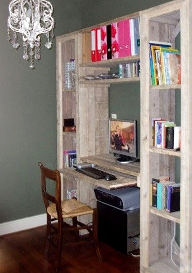 Steigerhouten kast met bureau | computerkast | de Steigeraar