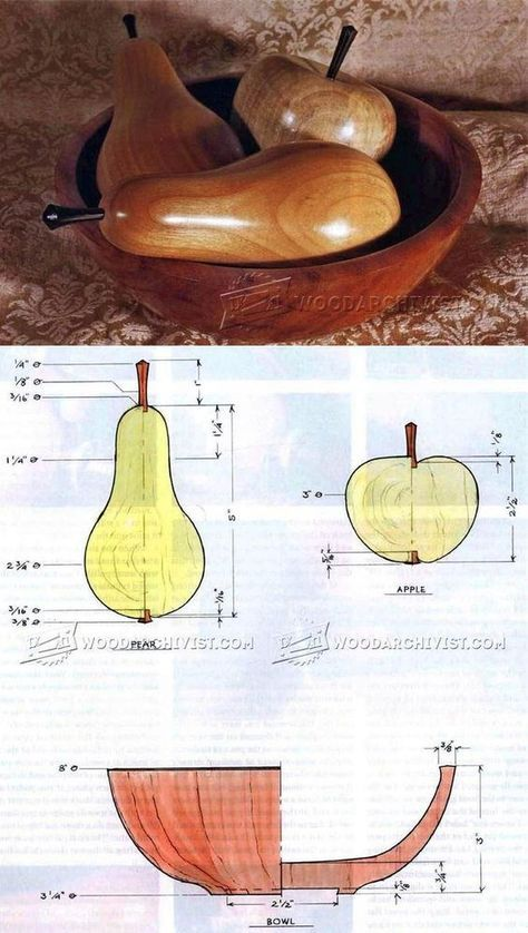 Woodturning Fruit - Woodturning Projects and Techniques | WoodArchivist.com