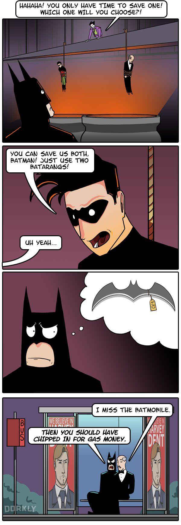 """""""If Batman Were Poor"""" #dorkly #geek #batman"""