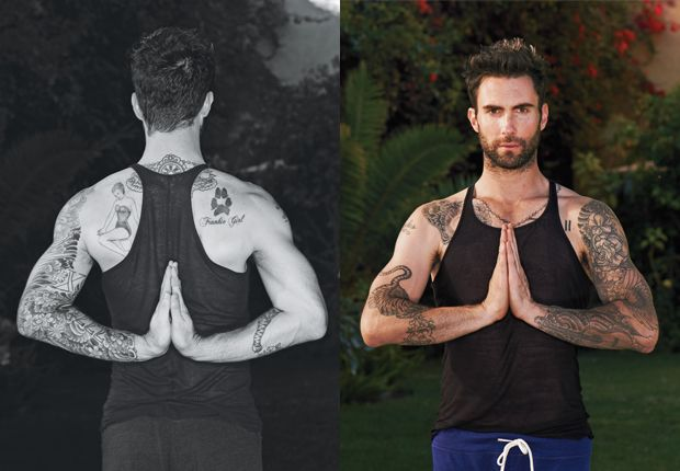 yoga + adam levine = perfection.
