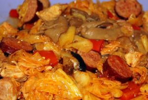"One of the most delicious dishes in Polish cuisine is Bigos, or as it is sometimes called in English, Hunter's Stew. For many Polish Greenpointers it's a staple, but many locals still do not know about this fantastic cold weather dish. Extremely hearty and filling, it's a stew that is perfect for a cold day. No one is entirely sure how the word bigos entered the Polish language, but some say that it comes from German begossen, meaning ""doused"" or ""basted."" Another explanation is that it…"