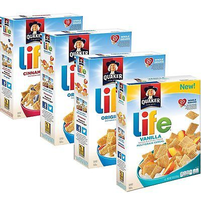 Quaker-Breakfast-Cereal-Variety-Pack-52-Ounce-4-Boxes-New