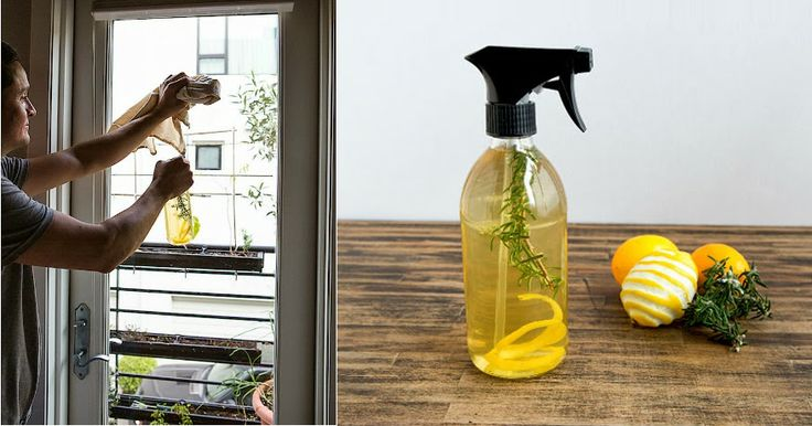 Spray casero de limón y romero para la limpieza   -   Homemade lemon and rosemary for cleaning spray