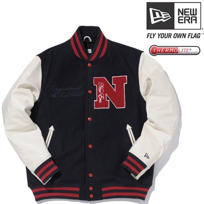 cio-inc | Rakuten Global Market: 써 모 라이트 (R) × 뉴에 라 스타디움 재킷 엔 패치 네이 비 화이트 레드 THERMOLITE (R) × New Era Stadium Jacket N Patch Navy White Red