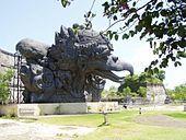 Garuda 18m tall statue in Garuda Wisnu Kencana, Bali.
