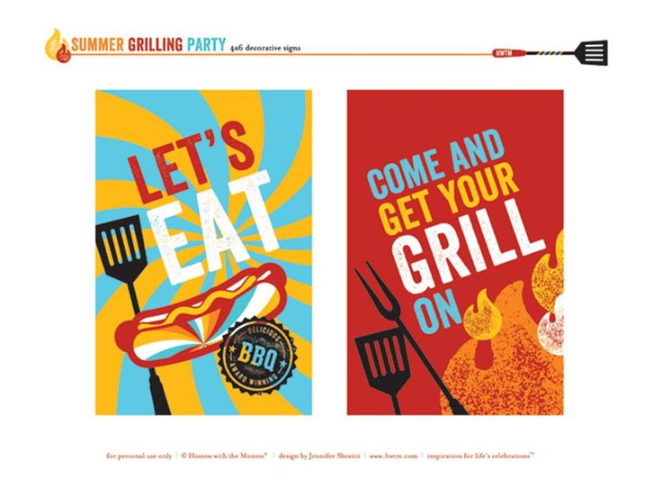 We love these FREE Printables Summer Grilling