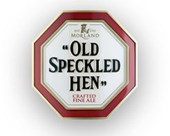 MORLAND OLD SPECKLED HEN - has a full, smooth flavour. Its rich amber colour and superb fruity aromas are complemented by a delicious blend of malty tastes. Toffee and malt combine with bitterness on the back of the tongue to give a balanced sweetness. This, all followed by a refreshingly dry finish.