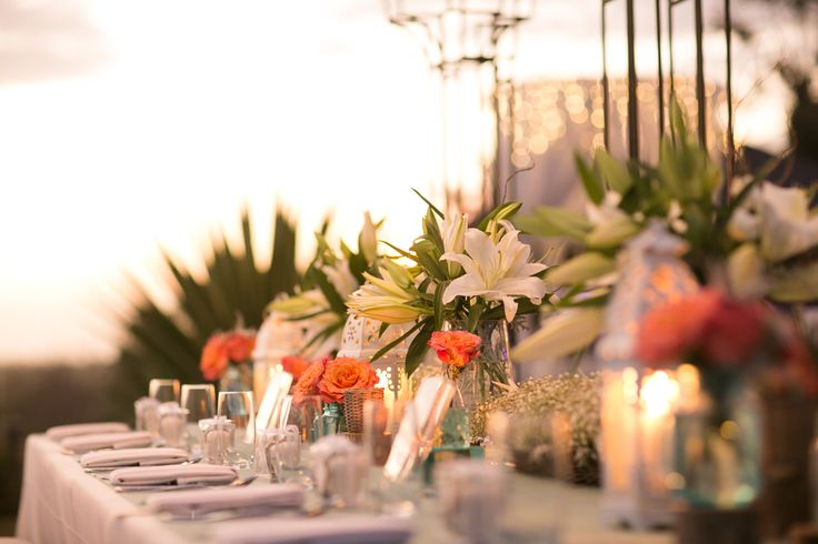Bridal Table in dusk a