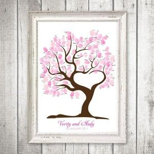 Guest finger print tree for baby shower