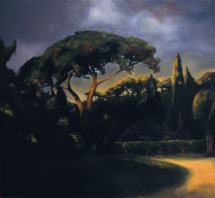 Villa romana, 2008, oil on canvas, cm 100x110