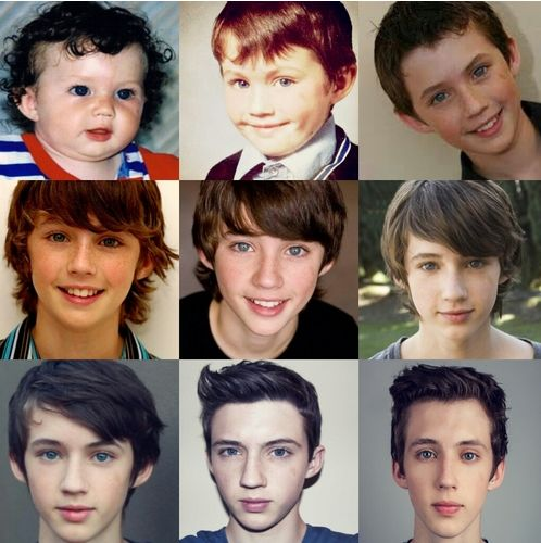 Troyes hair as a little baby! <3 love him and his music and videos