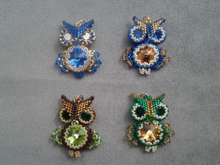 Swarovski little owls family