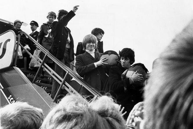 Rolling Stones lander i København i 1965. Koncerten fandt sted i Odense og ikke i Købenjavn