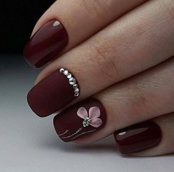 Chic Burgundy Nail Designs For Winter 2019 Maroon Nails