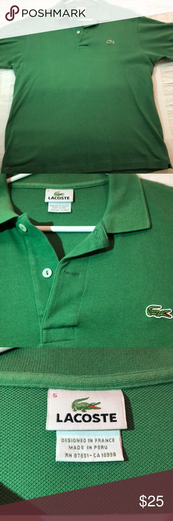 Men's Lacoste Short Sleeve Polo Shirt Classic green Lacoste polo shirt. Perfect condition. Lacoste Shirts Polos