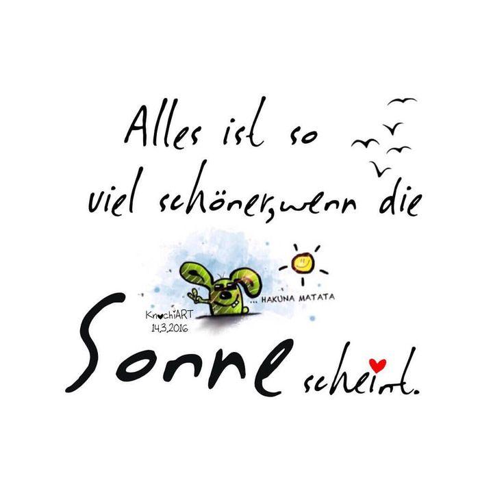 ☀️ Alles ist so viel #schöner ,wenn die #Sonne scheint.  Aber sowas von  #Laune viel schöner … #Tag viel schöner … #Leben viel schöner … #Du viel schöner  usw… seht ihr das genauso  #happy #monday ✨ #spruch #sprüche #spruchdestages  (hier:...