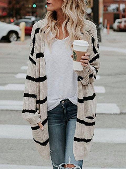 4a6244adf Shop Sweaters & Cardigans - Women Plus Size Khaki Shift Casual ...