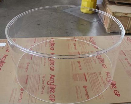 """Full acrylic dome 360 level viewpoint, 20-gauge motivated steel back. Representation is 15-1/4"""" high, 36"""" dimension. Circumstances Conditions:California People please add california product sales tax."""