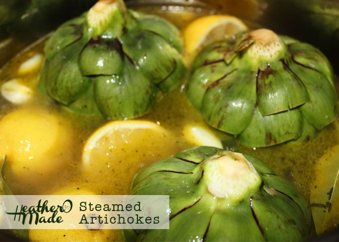 steamed artichokes might have to try this. tyler florence's steamed ...
