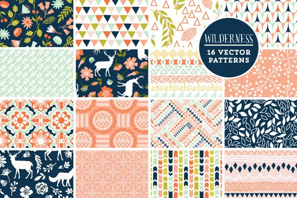 Check out 16 Wilderness Vector Patterns by Cocoa Mint on Creative Market