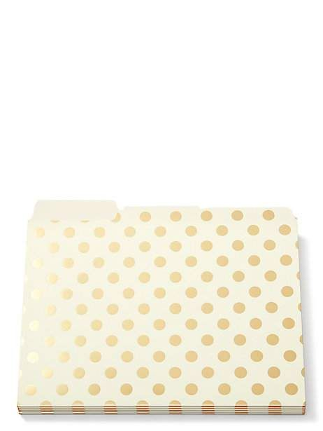 strike gold dot file folders - Kate Spade New York