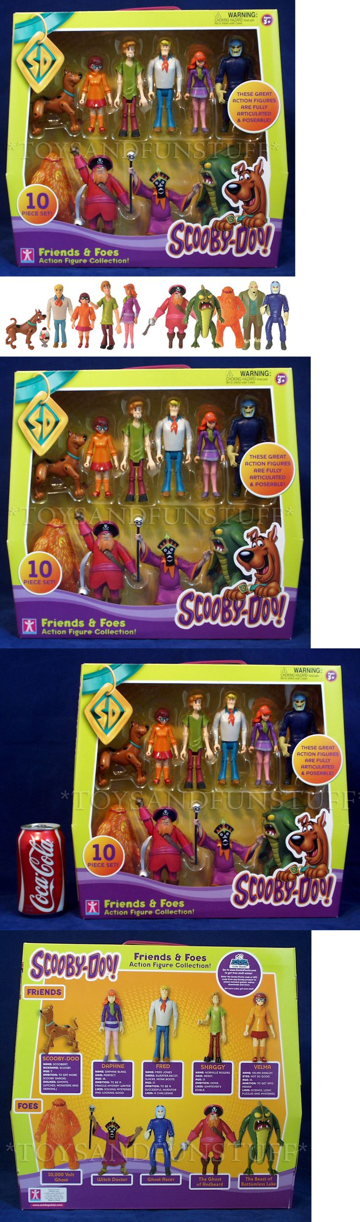 Scooby-Doo 11747: New - Scooby Doo Friends And Foes 10 Action Figures Ghost Racer Redbeard Villains -> BUY IT NOW ONLY: $74.95 on eBay!