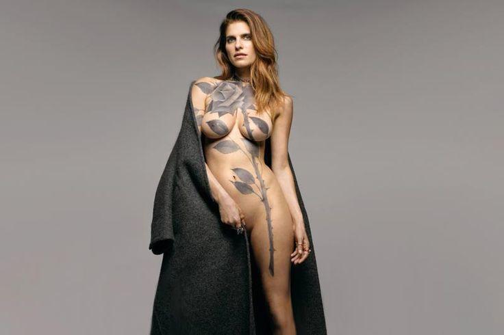 Lake Bell in Scott Campbell's Body Art for 'New York Magazine'
