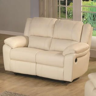 Wildon Home Baxtor Leather Reclining Loveseat   Color  Ivory at Sears com. 50 best images about Leather Furniture on Pinterest   Leather
