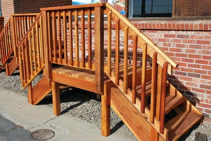 Best Premade Deck Railing Redwood Deck Pre Made Deck Stair Railings Redwood Decking Porch Steps 400 x 300