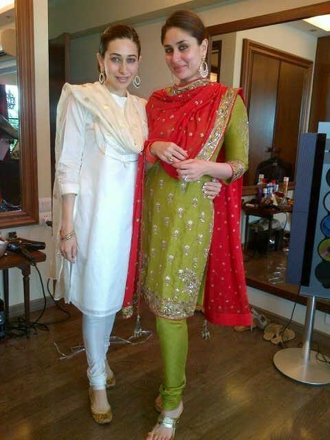 Karisma & Kareena Kapoor snapped before the registered wedding