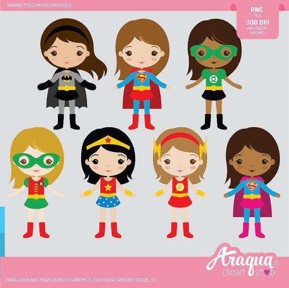 Superhéroe chicas conjunto de imágenes prediseñadas  descarga