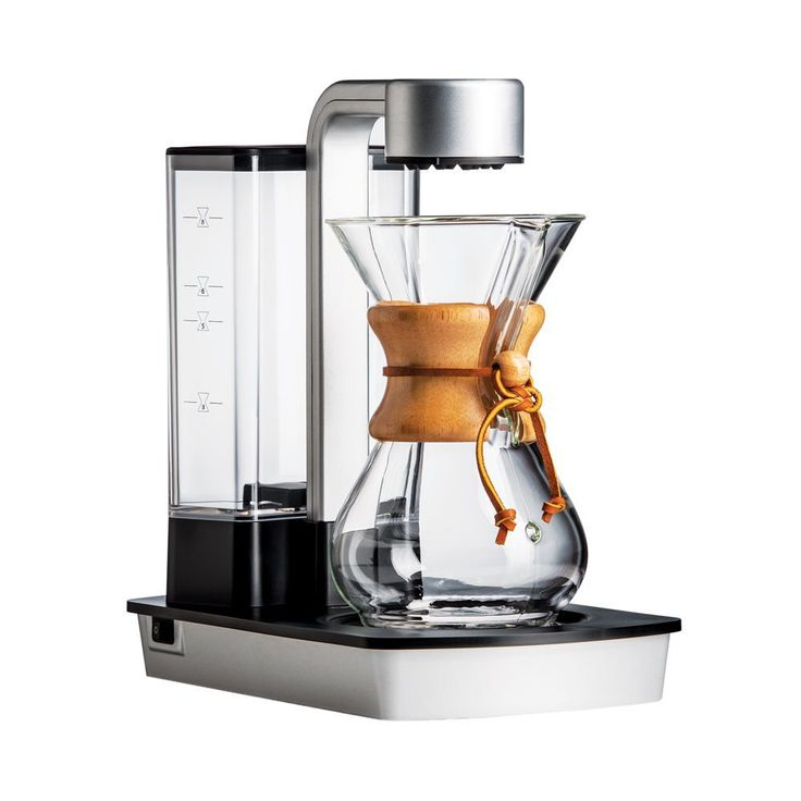 Chemex brings elegant simplicity to supreme-quality coffee and tea-making. The Ottomatic includes the Six Cup Classic Series Coffeemaker, small pack of Chemex Bonded Filters and glass coffeemaker cove